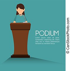 podium speech icon