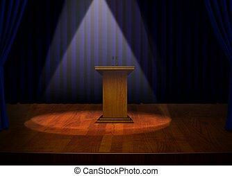 podium, strumienice, rusztowanie