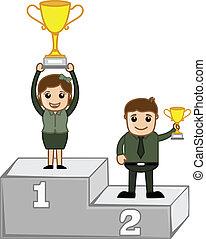 Podium vainqueurs dessin anim illustration - Dessin podium ...