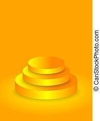podium, vide, cercle, or