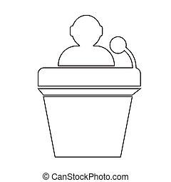 Podium Without Speaker icon Illustration Art
