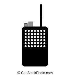 podoba, walkie, rádio, zvukový film, ikona