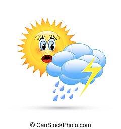 podobenství, karikatura, počasí