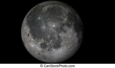 podróż, księżyc