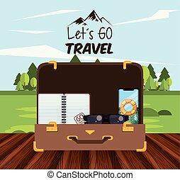 podróż, podróż, turystyka, ikona