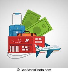 podróż, pojęcie, turystyka, urlop, zbiór