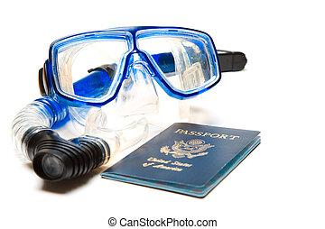 podróż, snorkeling