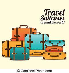 podróż, walizki