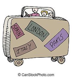 podróżnicy, rodzina