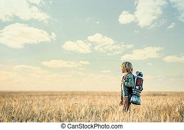 podróżnik, mały