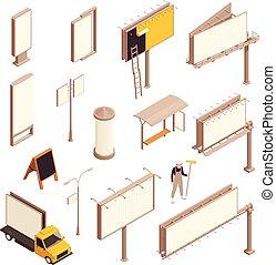 poduszeczki, reklama, isometric, komplet