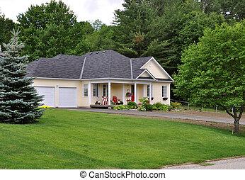 podwójny, bungalow, nowy, garaż