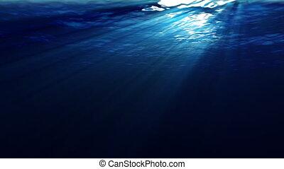 podwodny, promienie słoneczne
