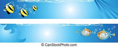 podwodny, scena