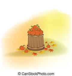 podzim, grafické pozadí