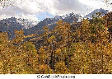 podzim, hory