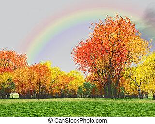podzim, scenérie