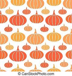 podzim, seamless, dýně, model