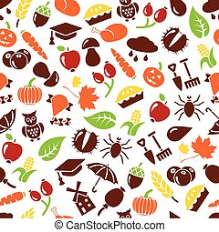 podzim, seamless, model