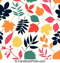 podzim, seamless, pattern.