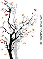 podzim, strom, vektor