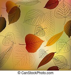podzim, vektor, zub, tkanivo