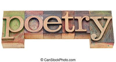 poesi, in, boktryck, typ