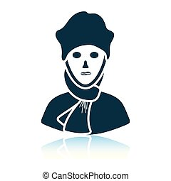 Poet icon. Shadow reflection design. Vector illustration.