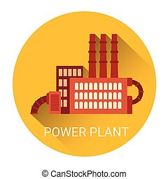 Poewr Plant Flat Icon