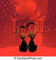 poezen, liefde, dag, valentine