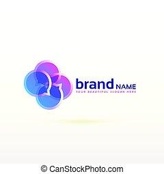 pogawędka, logo, symbol, projektować, w, abstrakcyjny, styl