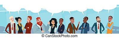 pogawędka, ludzie handlowe, sieć, komunikacja, towarzyski, ...