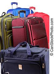 poggyász, consisting, közül, nagy, suitcas