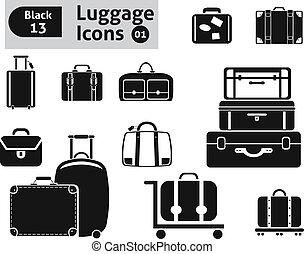 poggyász, ikonok