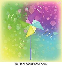 pogoda, formułować, wektor, chorągiewka, kwiat