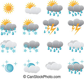 pogoda, komplet, ikona