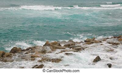 pogoda, włochy, wietrzny, coastline