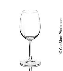 pohár, áttetsző, üres, bor