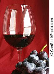 pohár, és, szőlő
