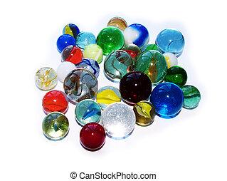 pohár üveggolyó