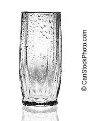 pohár, fehér, üres, áttetsző, háttér