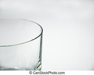 pohár, fehér, üres, háttér
