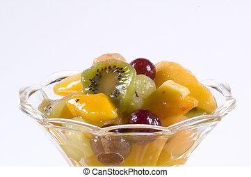 pohár, fruitsalad