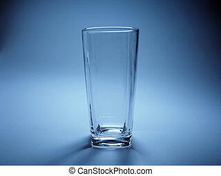pohár, háttér., kék, üres