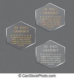 pohár, hatszög, alatt, egy, honeycomb., vektor, ábra, infographics.