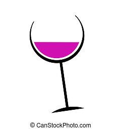 pohár, kivonat tervezés, -e, bor