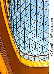 pohár, modern építészet, tető