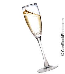 pohár, pezsgő