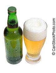 pohár, sörösüveg