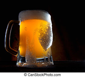 pohár, sör